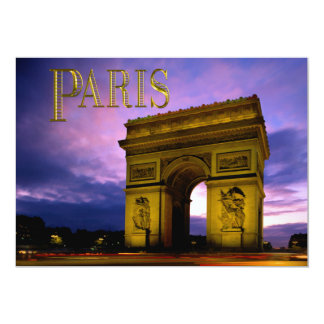 Night at Arc de Triomphe Paris Card