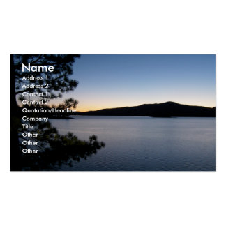 Night at the lake pack of standard business cards
