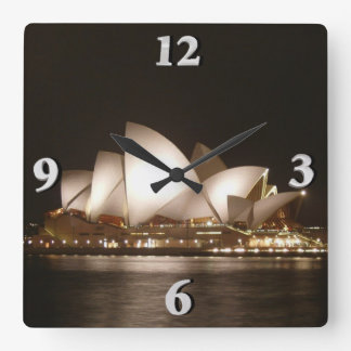 Night at the Opera Square Wall Clock