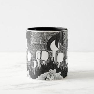 Night At The Pond Two-Tone Coffee Mug