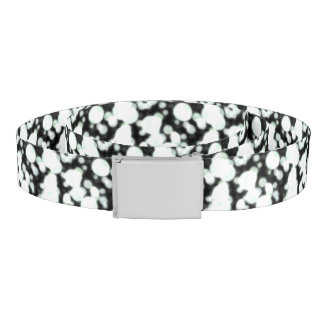 Night Background and Bright Light Circles Belt