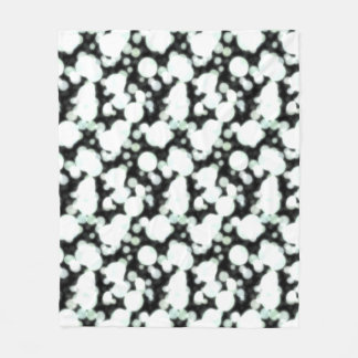 Night Background and Bright Light Circles Fleece Blanket