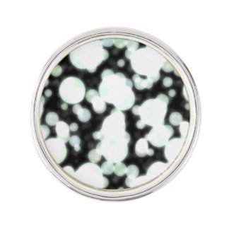 Night Background and Bright Light Circles Lapel Pin