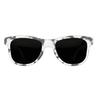Night Background and Bright Light Circles Sunglasses