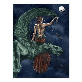 Night ballet postcard