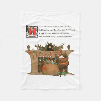 Night Before Christmas Christmas Fleece Blanket