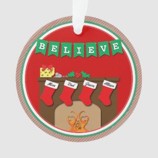 Night Before Christmas Kissing Mice • 4 Stockings Ornament