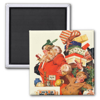 Night before Christmas Square Magnet