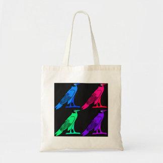 Night Bird Egyptian Motif Tote Bag