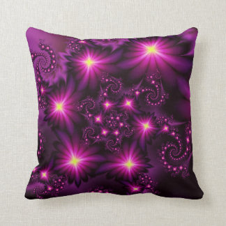 Night bloom throw cushion