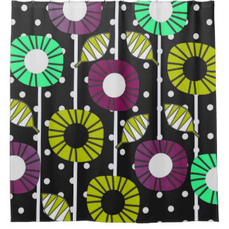 Night bloomers shower curtain