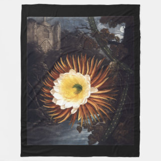 Night-blooming Cereus Fleece Blanket