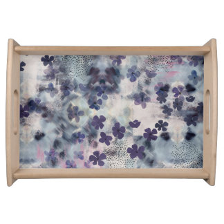 Night Blossom Floral Breakfast Tray