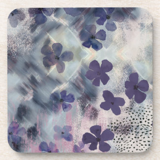 Night Blossom Floral Coaster Set