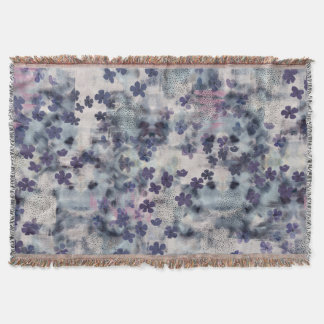 Night Blossom Floral Fringe Blanket