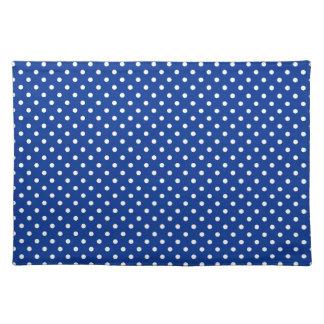 Night Blue Polka Dot Pattern Placemat