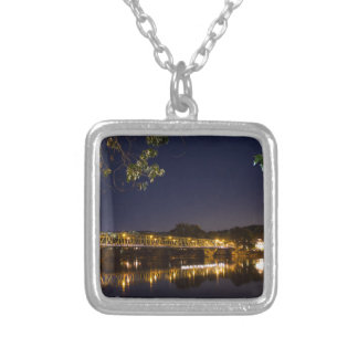 Night Bridge Silver Plated Necklace