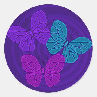 Night butterflies sticker