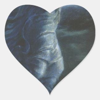 Night by Edward Burne-Jones Heart Sticker
