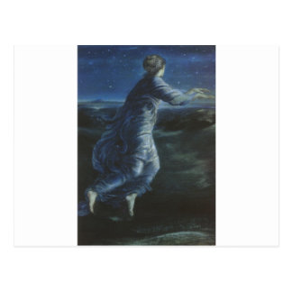 Night by Edward Burne-Jones Postcard