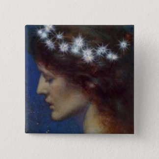 Night by Henri Georges (1897) 15 Cm Square Badge