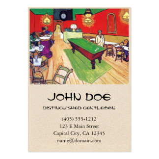 Night Cafe in Arles by Vincent Van Gogh Pack Of Chubby Business Cards