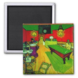Night Cafe Place Lamartine Van Gogh Fine Art Square Magnet