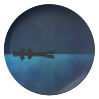 Night Canoe Plate