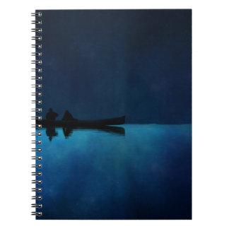 Night Canoe Spiral Notebook