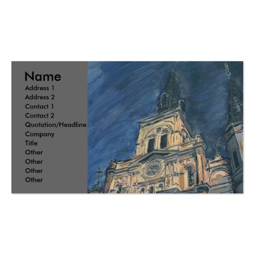 Night Cathedral, Business Card Template