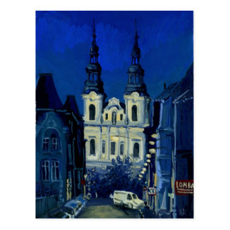 Night church postcard