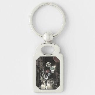 Night City Metal Keychain