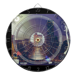 Night city ON the record player Dart Board