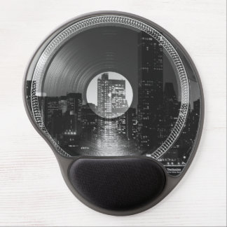 Night city ON the record player Gel Mouse Pad