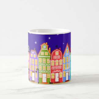 Night City Walking Cat Mug