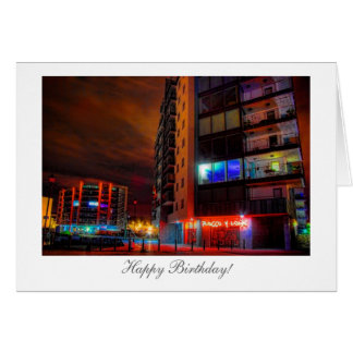 Night Cityscape - Happy Birthday Card