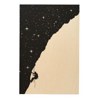 Night climbing wood print