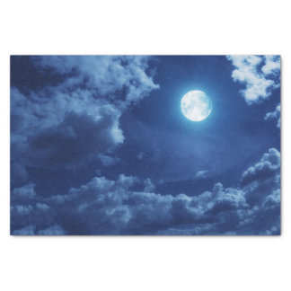 Night Clouds with Moon - Tissue Paper