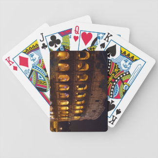 night colloseum bicycle playing cards