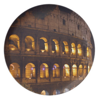 night colloseum plate