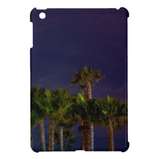 Night Cool Toned Blue Purple Palm Tree Beach Star Cover For The iPad Mini