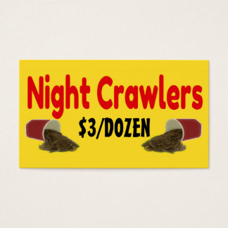Night Crawlers For Sale Ad Business Card