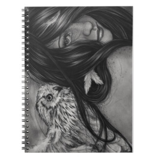 Night Creatures Owl Girl Notebook