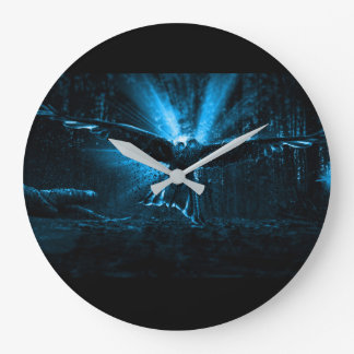 Night Eagle Large Clock