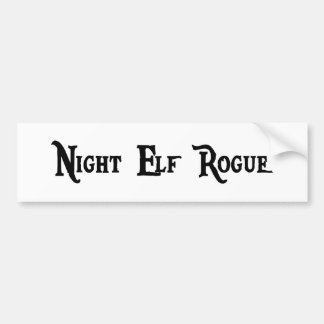 Night Elf Rogue Bumper Sticker