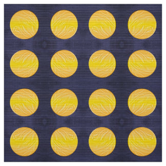 night end moon. polka dots pattern fabric