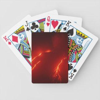 Night erupt volcano Klyuchevskaya Sopka Bicycle Playing Cards