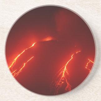 Night erupt volcano Klyuchevskaya Sopka Coaster