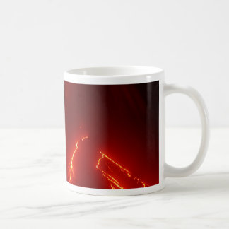 Night erupt volcano Klyuchevskaya Sopka Coffee Mug