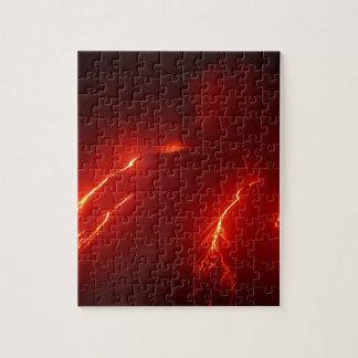 Night erupt volcano Klyuchevskaya Sopka Jigsaw Puzzle